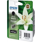 Epson C13T05914010 (T0591) Ink cartridge black, 640 pages, 13ml