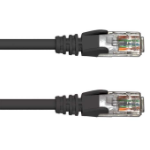 FDL 5M CAT.5e UTP PATCH CABLE - BLACK