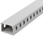 StarTech.com Cable Management Raceway w/Parallel Slots 78in - Network Cable Hider Kit - Slotted Wall Wire Duct System - Cord Concealer Channel - Surface Mount Wiring Channel PVC UL Rated CBMWD3825
