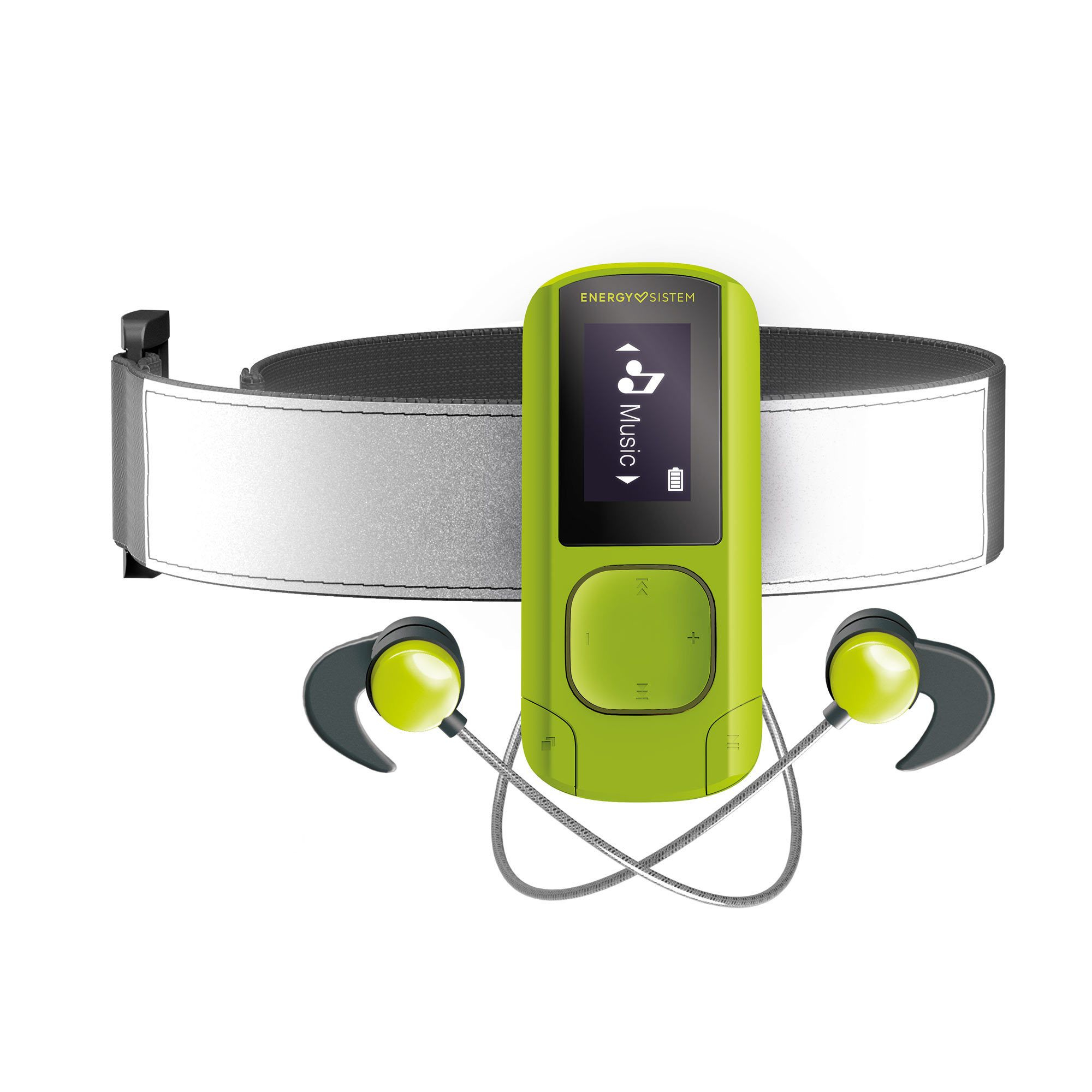 Energy Sistem MP3 Clip BT Sport Greenstone Reproductor de MP3 Verde 16 GB