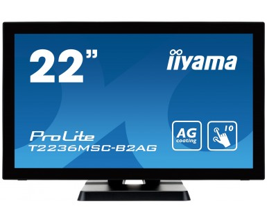 "iiyama ProLite T2236MSC touch screen monitor 54.6 cm (21.5"") 1920 x 1080 pixels Black Multi-touch"