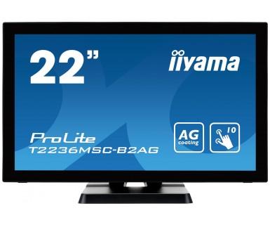 "iiyama ProLite T2236MSC touch screen monitor 54.6 cm (21.5"") 1920 x 1080 pixels Black Multi-touch"