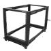 StarTech.com 12U open-frame serverrack met 4 stijlen met verstelbare diepte incl. zwenkwielen/stelpoten en kabelhaken