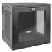 Tripp Lite 12U SmartRack Wall-Mount Rack Enclosure Cabinet with Clear Acrylic Door, UPS-Depth, Hinged Back