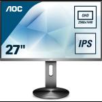 AOC Q2790PQE PC Flachbildschirm 68,6 cm (27 Zoll) 2560 x 1440 Pixel Quad HD LED Grey