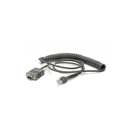 Zebra CBA-RF2-C09ZAR serial cable Black 2.8 m RS232 DB9