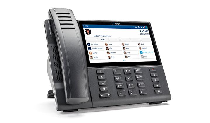 Mitel MiVoice 6940 Black Wireless handset LCD Wi-Fi IP phone