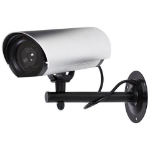 Proper Large Dummy Security Camera Black,Metallic Bullet dummy security camera