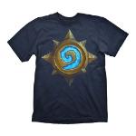 HEARTHSTONE Men's Heroes of Warcraft Rose Logo T-Shirt, Extra Extra Large, Dark Blue (GE1764XXL)