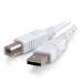 C2G Cable USB 2.0 A/B de 2 m, color blanco