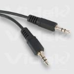 Videk 3.5mm Plug to 3.5mm Plug Stereo 1.2Mtr audio cable 1.2 m Black