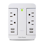 CyberPower P4WSU surge protector White 4 AC outlet(s) 125 V