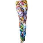 NINTENDO Legend of Zelda Windwaker HD Women's All-over Link Print Leggings, Medium, Multi-colour (ZP231002ZEL