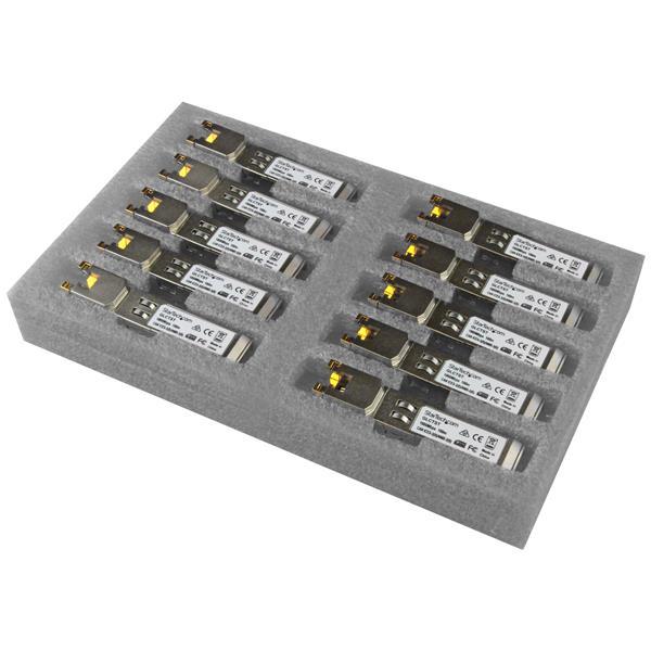 StarTech.com Gigabit RJ45 Copper SFP Transceiver Module - Cisco GLC-T Compatible - 10 Pack
