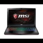 "MSI Gaming GE62VR 7RF(Apache Pro)-462UK Notebook Black 39.6 cm (15.6"") 1920 x 1080 pixels 7th gen Intel® Core™ i7 16 GB DDR4-SDRAM 1128 GB HDD+SSD NVIDIA® GeForce® GTX 1060 Wi-Fi 5 (802.11ac) Windows 10 Home"