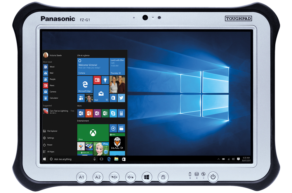 Panasonic Toughpad FZ-G1 - Tablet - Core i5 7300U / 2.6 GHz - Win 10 Pro 64-bit - 8 GB RAM - 256 GB