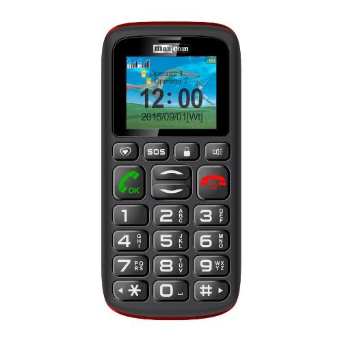 "MaxCom MM428 1.8"" 78g Black,Red Senior phone"