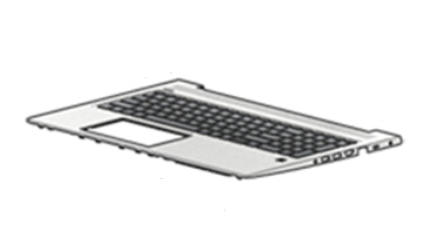 HP L45090-041 notebook spare part Housing base + keyboard