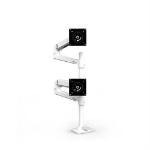 """Ergotron LX Series Dual Stacking Arm 40"""" Clamp White"""