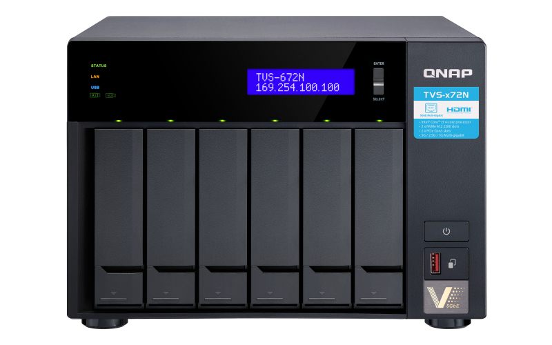 QNAP TVS-672N ETHERNET LAN TOWER BLACK NAS