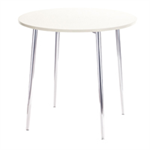 Arista FF ARISTA ROUND BISTRO TABLE WH/CHROME