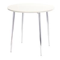 FF Arista Wh Chrome Round Bistro Table