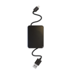 Jivo Technology Retractable Lightning Cable -Black