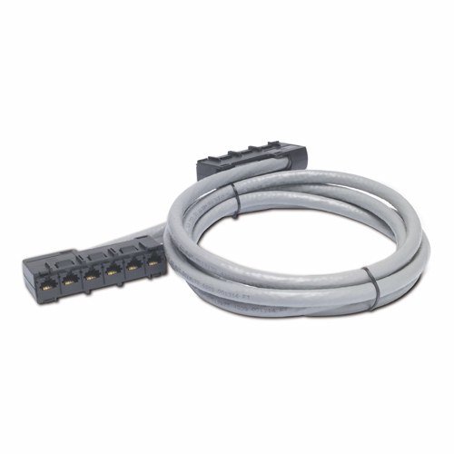APC 27ft Cat5e UTP, 6x RJ-45 - 6x RJ-45 networking cable 8.23 m U/UTP (UTP) Grey