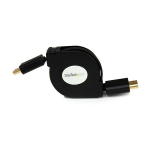 StarTech.com 4 ft Retractable High Speed HDMI Cable with Ethernet - HDMI to HDMI