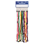 KEVRON LANYARDS KEVRON BREAKAWAY ASSORTED COLOURS CARD 12(EACH)