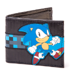 SEGA Sonic The Hedgehog Running Bi-fold Wallet, Black (MW150990SEG)