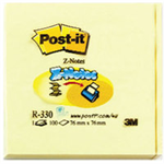 Post-It R330 self-adhesive note paper Square Yellow 100 sheets
