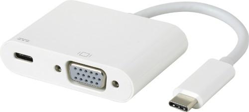 eSTUFF USB-C VGA Charging Adapter USB 3.2 Gen 1 (3.1 Gen 1) Type-C 5000 Mbit/s White