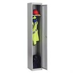 Bisley Single Door Vertical Locker Grey
