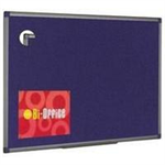 Bi-Office BI OFFICE BLUE FELT BRD 1200X900 ALU FIN