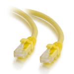 C2G Cable de conexión de red de 0,5 m Cat5e sin blindaje y con funda (UTP), color amarillo