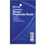 Silvine DUP BOOK 8.3X5 MEMO NCR 701-T