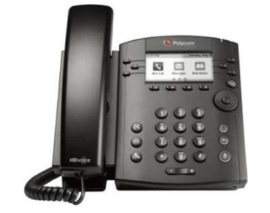 Polycom VVX 300 IP phone Black Wired handset LCD 6 lines
