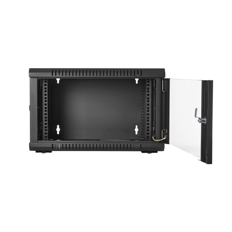 V7 RMWC6UG-1E rack cabinet 6U Wall mounted rack Black