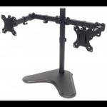 "Manhattan Monitor Desk Mount (stand), 2 screens, 10-32"", Vesa 75x75 to 100x100mm, 1 pivot, Height 0-46cm, Max 16kg, Black"
