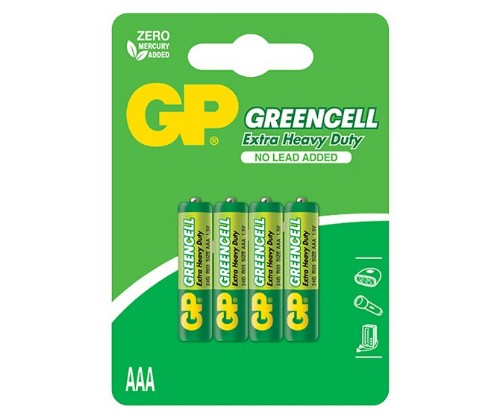 GP Batteries Greencell Carbon Zinc 4 AAA Single-use battery