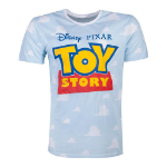 Disney Toy Story 4 Logo with All-over Clouds T-Shirt, Male, Medium, Blue (TS318030TOY-M)