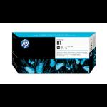 HP 81 Schwarz DesignJet Druckkopf und Druckkopfreiniger, farbstoffbasiert