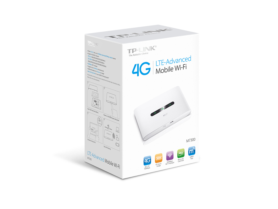 TP-LINK M7300 V3 Dual-band (2.4 GHz / 5 GHz) 3G 4G White wireless router