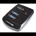 StarTech.com Wall Mount VGA Video Splitter Silver KVM switch