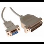 Hypertec 139001-HY serial cable White 1.8 m DB-25 DB-9