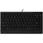 KeySonic ACK-595U USB QWERTZ English, French, German Black keyboard