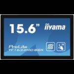 "iiyama ProLite TF1634MC-B8X touch screen monitor 39.6 cm (15.6"") 1920 x 1080 pixels Multi-touch Multi-user Black"