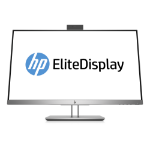"HP EliteDisplay E243d 60.5 cm (23.8"") 1920 x 1080 pixels Full HD LED Gray, Silver"
