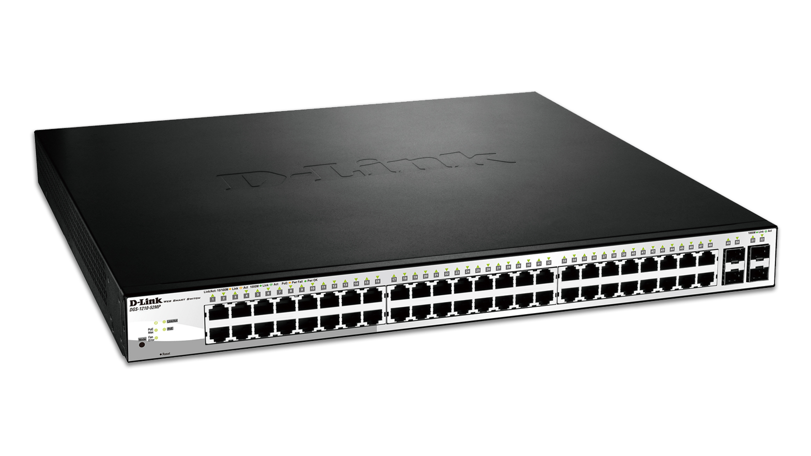 D Link Dgs 1210 52mp Managed Network Switch L2 Gigabit Ethernet 10 Power Over Is A Technology That Allows Devices Such 100 1000 Poe 1u Black